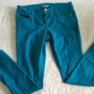 Express jeans blue in color size 8